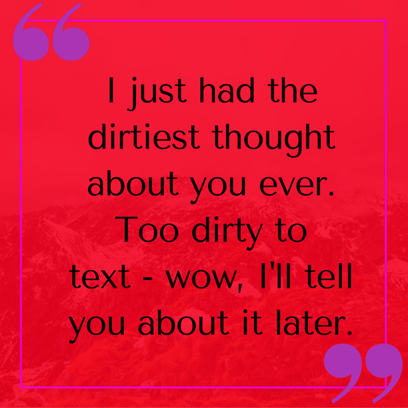 Dirty talking texte sms